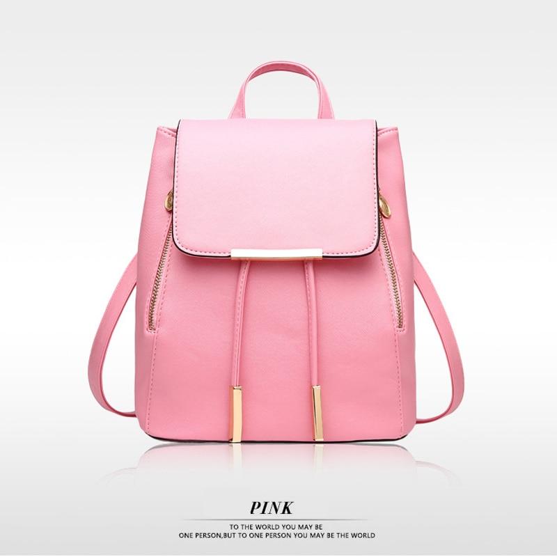 Korean School Women Backpack High Quality PU Leather Mochila Escolar School Bags For Teenagers Girls Top-handle Herald Fashion<br><br>Aliexpress