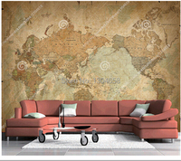 World map mural wallpaper and world map wallpaper shop cheap world custom retro papel de parede large murals classic world map used in the sitting room bedroom gumiabroncs Choice Image