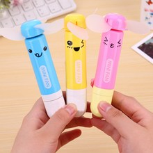Portable Mini Fan Telescopic Ball Pen Handheld Fan Easy Take Out Fan Best Gift Fan Random color