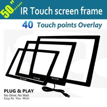 "Free Shipping High-end 50"" IR Touch Frame 40 points Anti-Sunlight Free Driver For Digital Signage, Kiosk,Exhibitions,Whiteboard(China)"