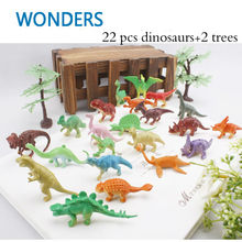 24pcs Dinosaur Toy Plastic livestock, Marine life Set Play Toys Dinosaur Model Action & Figures T-REX Best Gift for Boys