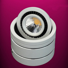Free Shipping Surface mounted 7W Dimmable COB LED Downlight,  led down lights, clothing,exhibition,decorative lighting