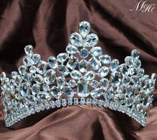 Sparkling Clear Crystal Tiaras Headpiece Austrian Rhinestones Crowns Wedding Bridal Pageant Party Prom Hair Accessories