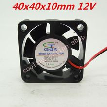10pcs/lot  40x40x10mm  4010 fans  12 Volt  Brushless DC Fans for heatsink cooler cooling  radiator  Free Shipping