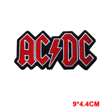 New words AC&DC Logo Hard Metal Rock Music Band Sew Iron On Embroidered Patch(China)