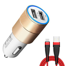 Buy Universal Car Charger ios Android 5V/2.1A Car Charger Mobile Phone Dual Usb Adapter Mini Car Charger Fast Charging for $1.09 in AliExpress store