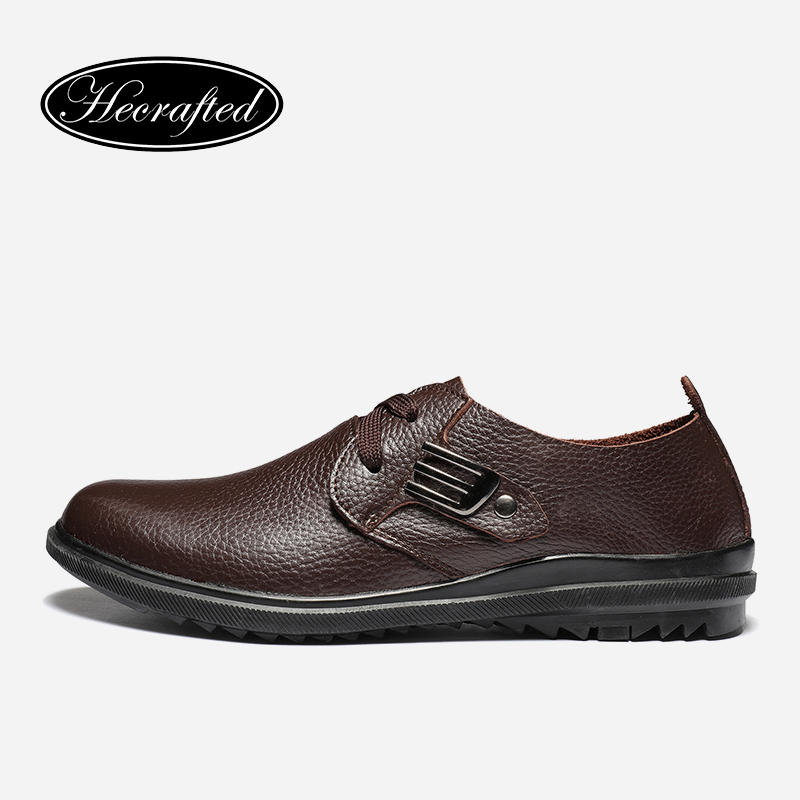 Size 37~47 Full grain leather Classic simple style men leather flats shoes #2928<br>