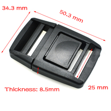 "5pcs/pack Pack 1"" Center Release Buckle for Outdoor Sports Bags Students Bags Luggage(China)"