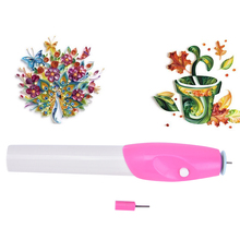 2017 DIY Arts Crafts Electric Slotted Paper Crafts Quilling Tool Origami Winder Steel Curling Pen Handmade Paper Craft Supllies