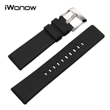 Genuine Leather Watchband 20/24/26/27/28mm for Diesel DZ7313/7322/7257 Watch Band Wrist Strap Steel Buckle Bracelet Black Brown