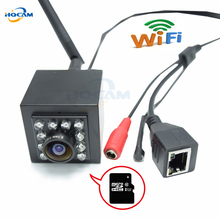 HQCAM 720P mini wifi IP camera wireless webcam, 10pcs 940 infrared Night Vision support SD card Home Surveillance External MIC