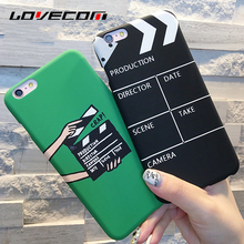 LOVECOM For iphone 5 5S SE 6 6S Plus 7 7 Plus Phone Case Scrub Movie Pallets Pattern PC Hard Phone Back Cover YC1944