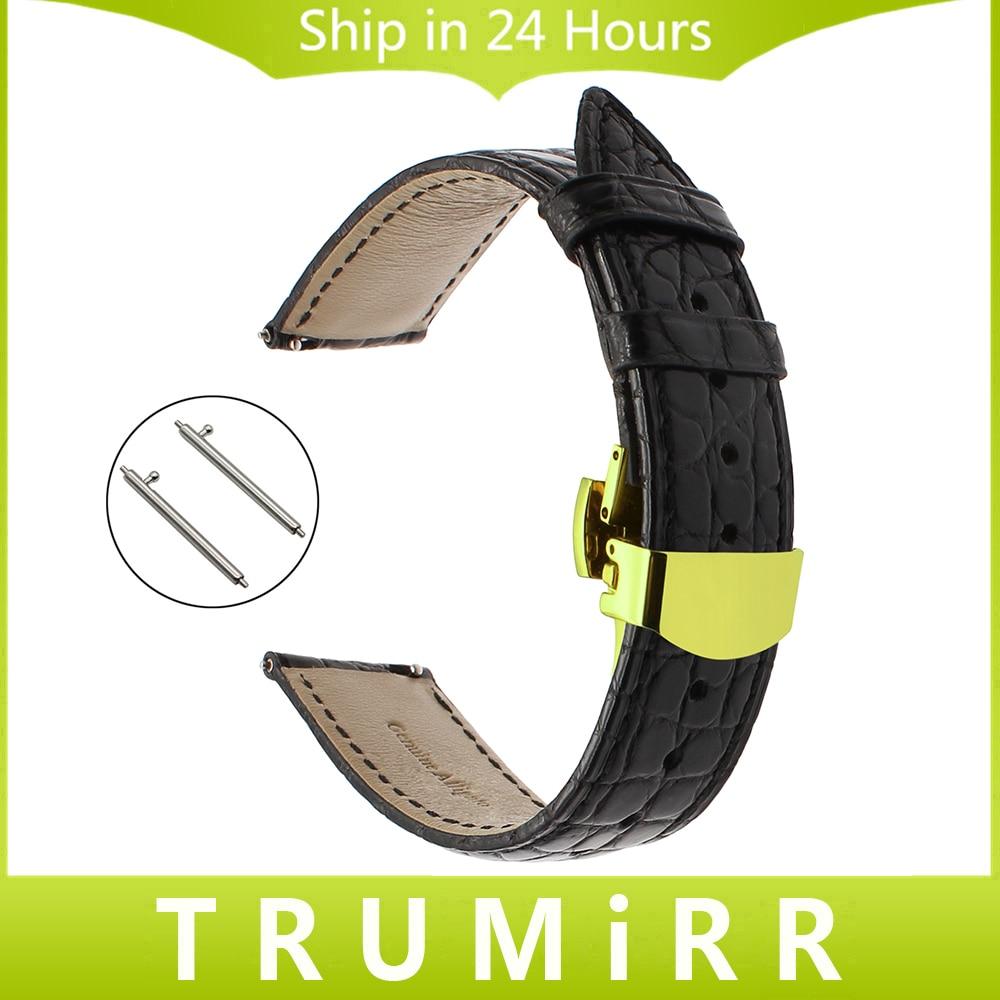 18mm 20mm 22mm Genuine Alligator Leather Watchband for Tissot Luminox Hamilton Seiko Citizen Quick Release Strap Watch Band Belt<br>
