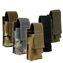 Nylon Belt Holster Case for Tactical Flashlight Molle Pouch Up to 140 mm/ 5.5 inches long For Fenix PD35 TK11 Coast PX25(Hong Kong)