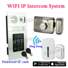P2P IP Video Video Doorphone Intercom System APP Access Password Code RFID Tags Unlocking Door, DHL Free Shipping