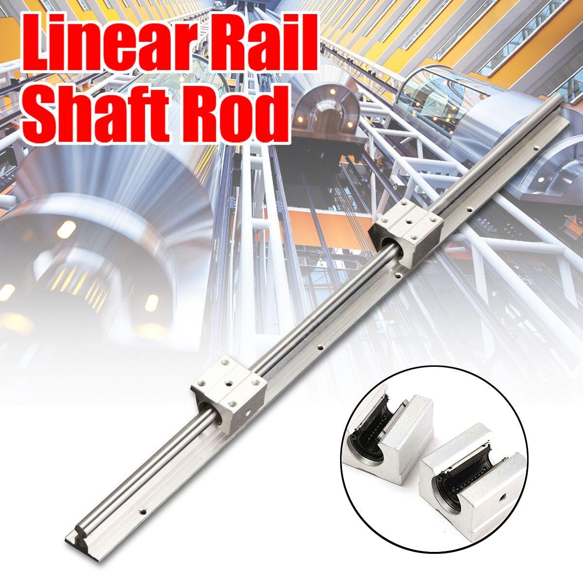 4 SBR12UU Block 2X SBR12-800mm 12MM FULLY SUPPORTED LINEAR RAIL SHAFT ROD
