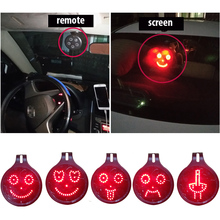 universal car gadgets 3d led emoji signal lights middle finger emoji xoxo expressions icon sticker remote control