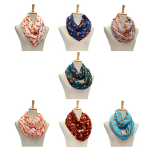 Hot Women Ladies Vintage Fox Pattern Print Voile Wrap Shawl Scarf Voile Lightweight Sheer Infinity Print Circle Scarf(China)