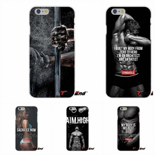 Loving Bodybuilding Gym Fitness For iPhone 4 4S 5 5C SE 6 6S 7 Plus TPU Slim Back Silicone Case Cover Skin