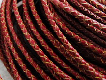 Bulk 50m/lot 3mm Red Braided Leather Cord Fit Necklace Bracelet A-2307(China)