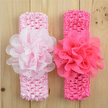 TWDVS Newborn Flower Elasticity Width Elastic Hair Band Kids Flower hair Accessories Ring Flower Headbad W032