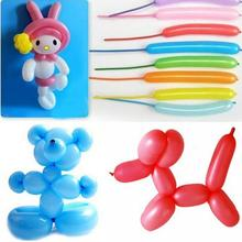 Party Festival Supplies Colorful Latex Long Balloons Assorted Party Favors Decor 50Pcs/Pack #5330