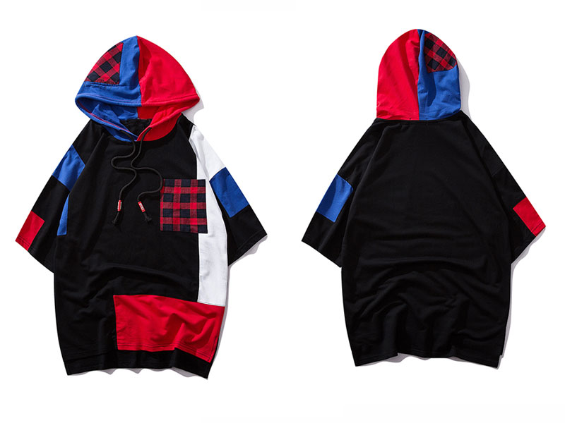 Color Block Patchwork Hoodies 1