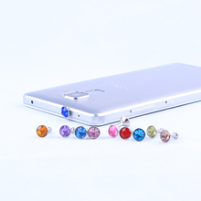 Free Shipping New 1Pcs Rhinestone Style Cute Protect Phone Earphone Dustproof Plug