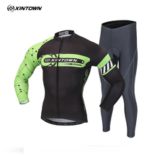 Buy XINTOWN Team PRO Ropa ciclismo Men's Cycling Long Sleeve Jersey Biking Cycling Jersey Bib Pants Sets Bicycle Clothes S-XXXL for $33.52 in AliExpress store