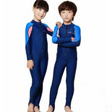 Swimwear Kids Boy Children Conjoined Long Sleeved Wetsuit Private Sun Bathing Suit   Waterproof Snorkeling Surfing Clothes