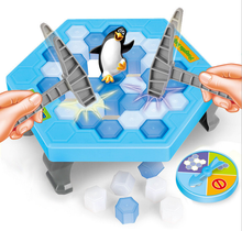 Ice Breaking Save The Penguin Board Game Baby Kids Toys Hobbies Education Learning Toy Children Funny Puzzles Parent Fun Toy(China)