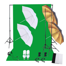 DE STOCK Photography Studio Lighting Set with 45W 5500K Daylight Studio Bulbs Light Stands Backdrop Reflector Umbrellas Stand