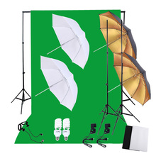 DE STOCK Photography Studio Lighting Set with 45W 5500K Daylight Studio Bulbs Light Stands Backdrop Reflector Umbrellas Stand(China)