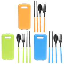2017 Folding Chopsticks Fork Spoon Portable Ultra-light Tableware Sets Practical Cooking ABC Tableware Set Outdoor Tools