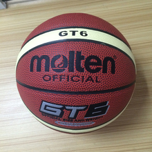 2017 New Brand Baloncesto Hight Quality Molten GT6 Basketball Ball PU Leather Official Size 6 Basketball Free Net Bag+ Needle(China)