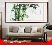 Large Scroll Painting by Numbers / Japanese Style Landscape Bamboo Tree / Home Office wall artwork Handpainted Room Decor
