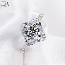 fashion rings for women 925 sterling silver ring wedding engagement Love aaa zircon jewelry bague female anillos gifts DD095