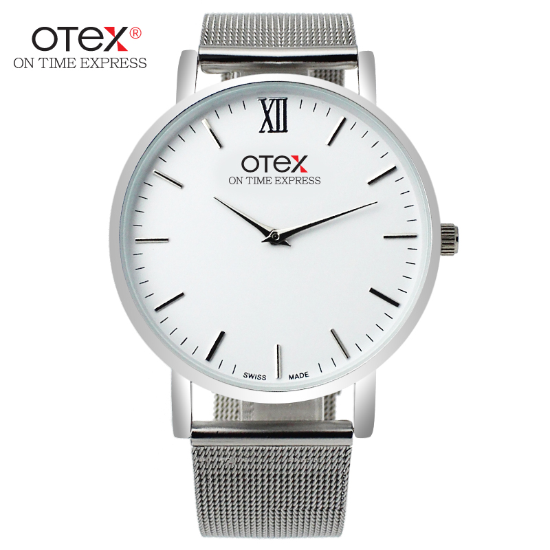 The new OTEX@ fashion luxury brand watches Mens simple beautiful mesh belt, stainless steel quartz watch gift.<br><br>Aliexpress