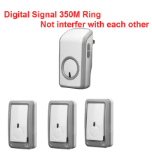 bell kits with 3 emitters+1 receiver wireless doorbell Waterproof 380 Meter door chime 48 melodies door ring digital signal ring