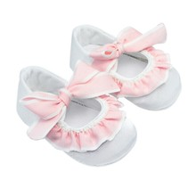 Spring Summer Baby Girls Shoes Pink Bowknot Crib First Walkers Infant Pre Walkers Non-slip Shoes(China)