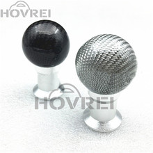 Universal Automotive gear lever head black/silver carbon fiber manual knob switch auto ball head for Honda Mazda Mitsubishi VW(China)