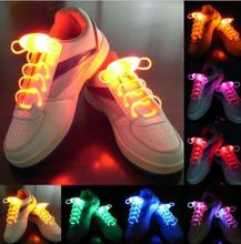 Newest LED Flash Light Up Shoelaces Glow Stick Strap Shoelaces Xmas Decor Shoestring Disco Party Skating Gift festive dance prop