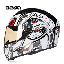 2017 Winter New CE Authentication Netherlands Band BEON Full Face Motorcycle Helmets ABS Motorbike Helmet with PC lens visor(China)