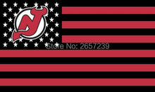 NEW JERSEY DEVILS with stripes and stars Flag 3x5FT NHL banner 100D 150X90CM Polyester brass grommets custom66,free shipping