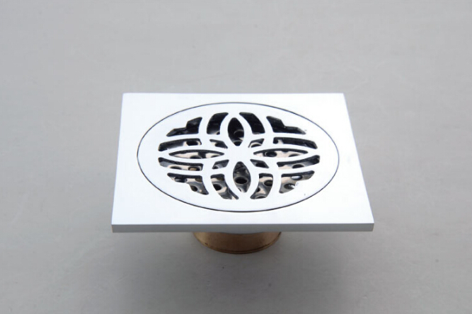 High quality Euro Style gold finish Art Carved Brass Floor Drain Cover Shower Waste Drain with against the stench design<br><br>Aliexpress