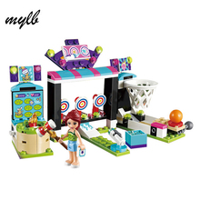 mylb NEW Girl Series Machine Shooting Amusement Park Assembling Building Block Funny Girls Toys Compatible with DIY(China)