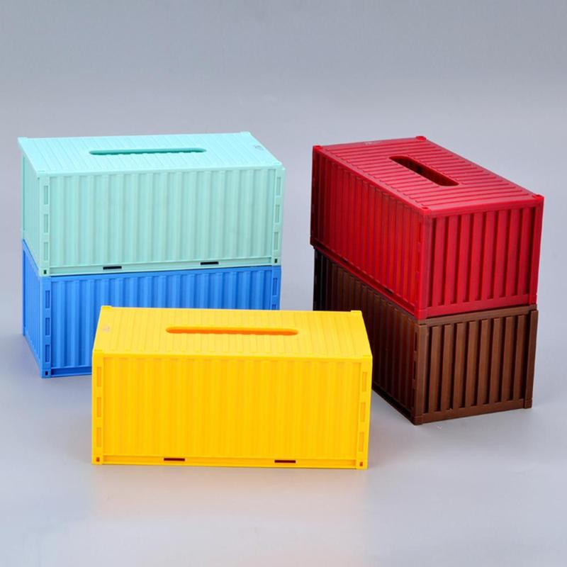 Multi color Planstic tissue box Home Car Office Rectangle Shaped Paper Rack Container Towel Napkin Tissue Holder 40(China)