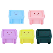 Popular Candy Color Home Furnishing Trumpet Mini Lock Box Super Cute Storage Boxes Accessories Organizer(China)