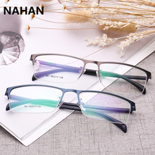Business Type Spectacle Frame for Men Pure colour Plastic Titanium TR90 Super Light Male Grade Glasses Frame Transparent Glasses