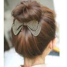 Fashion Women Hair Accessories Wholesale!New Arrival Bow Hairpins,Designer All Match Hair Barrettes, Girl'S Trendy Hairggrips(China)